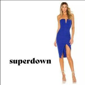 NWT Superdown/Revolve asymmetrical midi dress